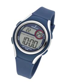 Nowley 8-6273-0-4 digitaal horloge 36 mm 100 meter blauw/ grijs