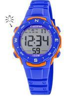 Calypso K5801/3 digitaal horloge 33 mm 100 meter blauw/ oranje