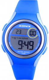 Xonix EV-005 digitaal horloge 36 mm 100 meter blauw