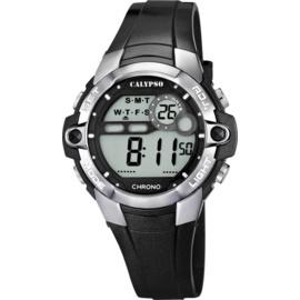 Calypso K5617/6 digitaal horloge 37 mm 100 meter zwart/ grijs
