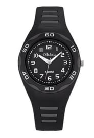 Tekday 653493 analoog horloge 34 mm 100 meter zwart/ grijs