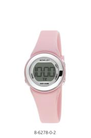 Nowley 8-6278-0-2 digitaal horloge 29 mm 100 meter roze/ zilverkleur