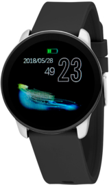 Nowley 21-2034-0-1 smartwatch 40 mm zwart incl. zwarte siliconen band