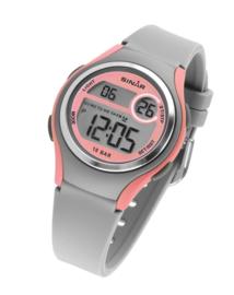 Sinar XE-64-9 digitaal horloge 36 mm 100 meter grijs/ roze