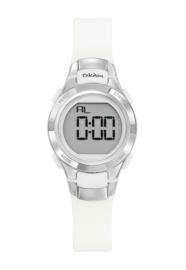 Tekday 654666 digitaal horloge 27 mm 100 meter wit/ zilverkleurig