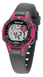 Sinar XE-52-8 digitaal horloge 32 mm 100 meter grijs/ roze