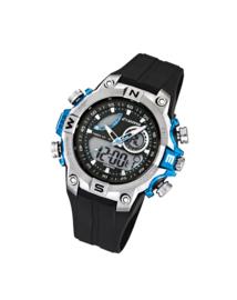 Calypso K5586/2 analoog/ digitaal horloge 46 mm 100 meter zwart/ blauw