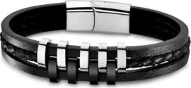 Lotus Style LS1838-2/1 armband 21,5 cm zwart 3 delig