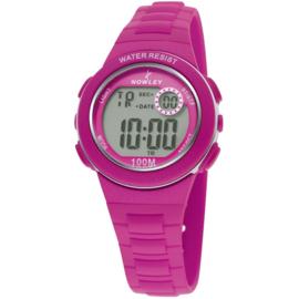 Nowley 8-6199-0-3 digitaal horloge 32 mm 100 meter fuchsia