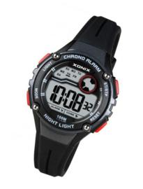 Xonix IT-007 digitaal horloge 32 mm 100 meter zwart/ rood
