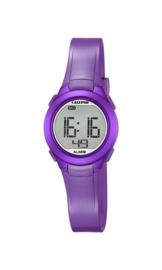 Calypso K5677/2 digitaal horloge 28 mm 100 meter paars