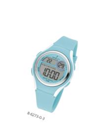 Nowley 8-6273-0-3 digitaal horloge 36 mm 100 meter turquoise/ wit