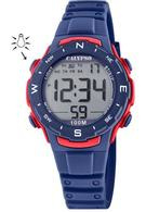 Calypso K5801/4 digitaal horloge 33 mm 100 meter blauw/ rood