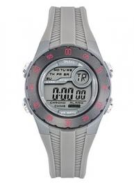 Tekday 653963 digitaal horloge 35 mm 100 meter grijs/ roze
