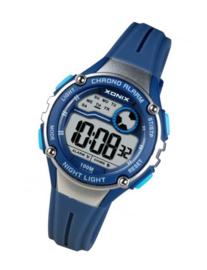 Xonix IT-006 digitaal horloge 32 mm 100 meter blauw/ zilverkleur