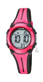Calypso K5682/9 digitaal horloge 35 mm 100 meter roze/ zwart