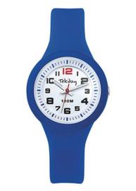 Tekday 653986 analoog horloge 32 mm 100 meter blauw/ wit
