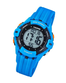 Calypso K5740/2 digitaal horloge 38 mm 100 meter blauw/ zwart