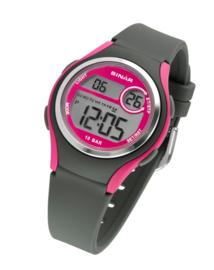 Sinar XE-64-8 digitaal horloge 36 mm 100 meter grijs/ roze
