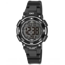 Q&Q M149J002 digitaal horloge 36 mm 100 meter zwart