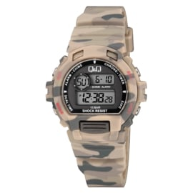 Q&Q M153J010 digitaal horloge 40 mm 100 meter leger groen