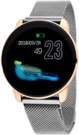 Nowley 21-2033-0-2 smartwatch 40 mm rosé incl. donker grijze stalen band