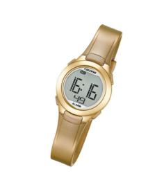 Calypso K5677/3 digitaal horloge 28 mm 100 meter goud/ rosé