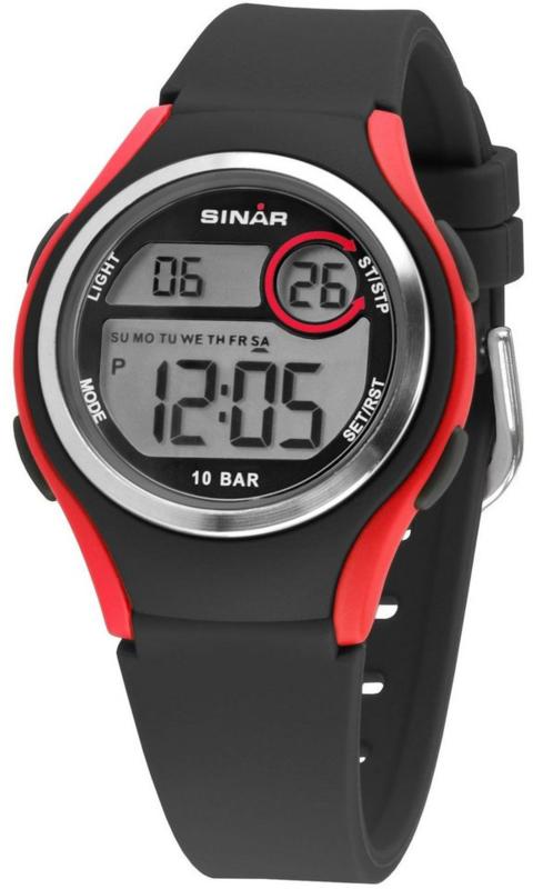 Sinar XE-64-4 digitaal horloge 36 mm 100 meter zwart/ rood