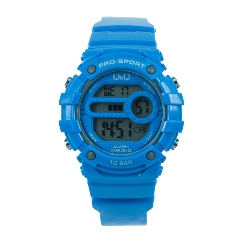 Q&Q M154J006 digitaal horloge 40 mm 100 meter blauw