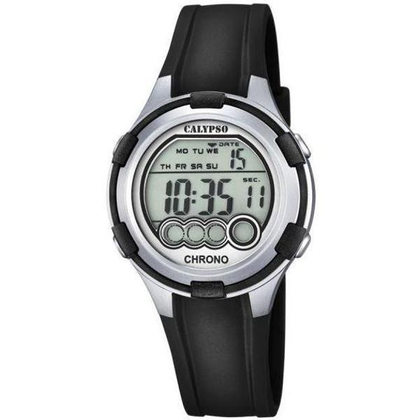 Calypso K5692/2 digitaal horloge 38 mm 100 meter zwart/ grijs