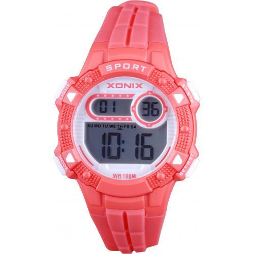 Xonix IZ-002 digitaal horloge 36 mm 100 meter rood/ wit