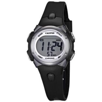 Calypso K5609/6 digitaal horloge 34 mm 100 meter zwart/ zilver kleur
