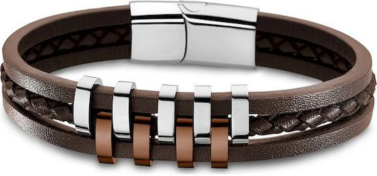 Lotus Style LS1838-2/3 armband 21,5 cm bruin 3 delig