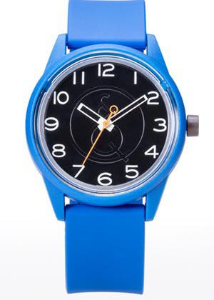 Q&Q 651004 Smile Solar horloge 40 mm 50 meter blauw/ zwart/ oranje
