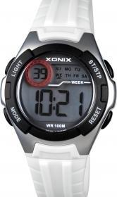 Xonix IN-001 digitaal horloge 34 mm 100 meter wit/ zwart