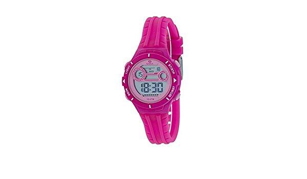 Marea B25155/1 digitaal horloge 34 mm 100 meter fuchsia/ roze