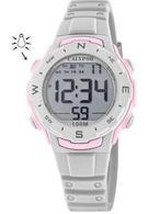 Calypso K5801/1 digitaal horloge 33 mm 100 meter grijs/ roze