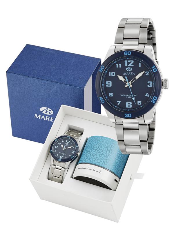 Marea B35321/4 analoog horloge 38 mm 50 meter blauw