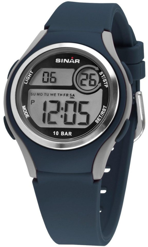 Sinar XE-64-2 digitaal horloge 36 mm 100 meter blauw/ grijs