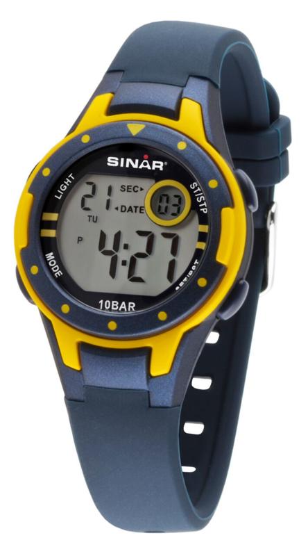 Sinar XE-52-2 digitaal horloge 32 mm 100 meter blauw/ geel