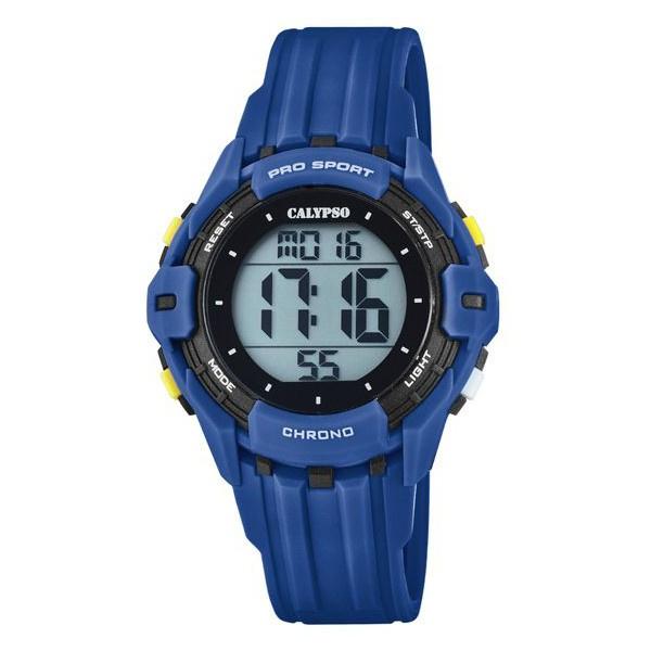 Calypso K5740/4 digitaal horloge 38 mm 100 meter blauw/ zwart