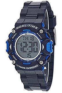 Marea B40190/3 digitaal horloge 40 mm 100 meter blauw