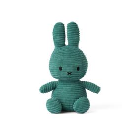 Nijntje/Miffy knuffel corduroy - groen