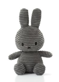 Nijntje/Miffy knuffel corduroy - donkergrijs