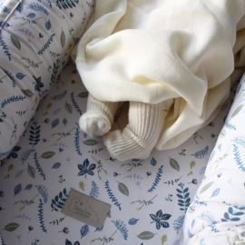 BABY NEST CAM CAM COPENHAGEN - Pressed Leaves Blue