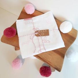 Hydrofiel doek vlinders roze