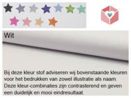 Wanddecoratie Borduurring - Origami bootjes - ø 23 cm