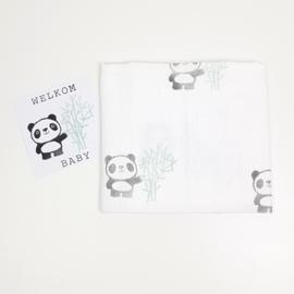 Hydrofiel doek zwarte Panda's
