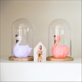 Led Lampje Zwaan - Peach Roze