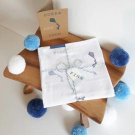 Hydrofiel doek vliegers donkerblauw - denim